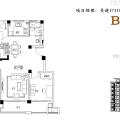 新滨湖孔雀城花园洋房 三居 105㎡ 户型图