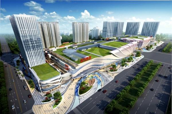 青浦万达茂,上海地铁17号线淀山湖大道站图片