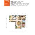 碧桂园北纬21°南北通透2+1房 两居 93㎡ 户型图