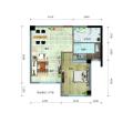 海城广场小户型独立一居室 一居 58.2㎡ 户型图