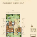 桂林万达城A1户型 四居 155㎡㎡ 户型图