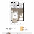 普吉岛公寓水星之城28平酒店式公寓 一居 28㎡ 户型图