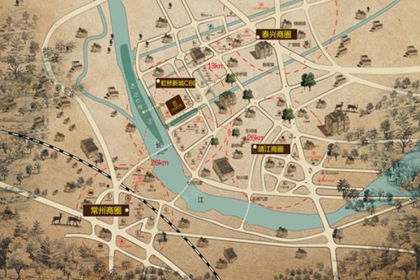 泰兴各乡镇地图