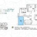 山湖海空中合院 三居 86㎡ 户型图