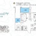 山湖海空中合院 两居 67㎡ 户型图