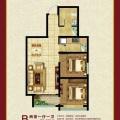 京西南高板住宅 两居  户型图