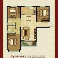 京西南高板住宅 三居  户型图