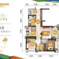 清水湾碧桂园珊瑚宫殿三期梦享家Y035A户型 2房2厅1厨1卫 78-82㎡ 两居 78-82㎡ 户型图