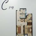 桐乡高桥阳光城两房两厅一卫 两居 76平方㎡ 户型图