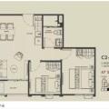 Metris Ladprao国际公寓 两居  户型图