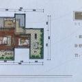绿城龙王溪B户型2层 两居 90㎡ 户型图