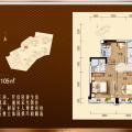 惠州碧桂园翡翠山4房2厅2卫 四居 126平米㎡ 户型图