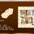 惠州碧桂园翡翠山3房2厅1卫 三居 96平米㎡ 户型图