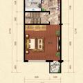 君安海天城二层 一居  户型图