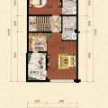 君安海天城三层 一居  户型图