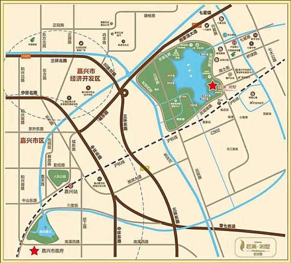 嘉兴南湖湘家荡景区君澜湘墅——地铁口3号线高端品质