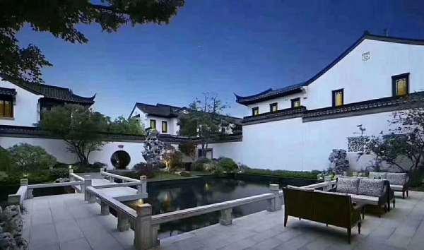 崇明岛中式别墅 传统风格,白墙黑瓦 依旧是那般迷人,中式庭院 融创