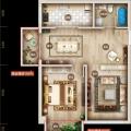上谷居退台公寓2A 两居 62.16㎡ 户型图