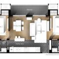 芭提雅威尼斯人公寓精装修 一居 24平米㎡ 户型图