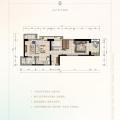俊发西双版纳滨江俊园F4户型两室 两居 86.32㎡㎡ 户型图