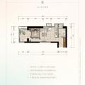 俊发西双版纳滨江俊园H5户型一室 一居 45.79㎡㎡ 户型图