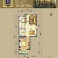 涿州码头京畔健康城舒适正规一居 一居 63.25平米㎡ 户型图
