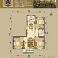 涿州码头京畔健康城二胎温馨之家 三居 104.25平米㎡ 户型图
