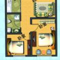 杭海盛都 两居  户型图
