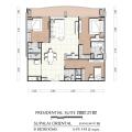 Supalai Oriental Sukhumvit 39 / 曼谷东方国际公寓 三居 141.5㎡ 户型图
