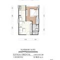 Supalai Oriental Sukhumvit 39 / 曼谷东方国际公寓 一居 39㎡ 户型图