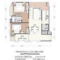 Supalai Oriental Sukhumvit 39 / 曼谷东方国际公寓 两居 101㎡ 户型图