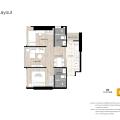 曼谷Oka Haus 两居  户型图