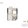 曼谷Oka Haus 一居  户型图
