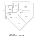 SO索菲特公寓 两居  户型图