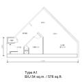 SO索菲特公寓 一居  户型图