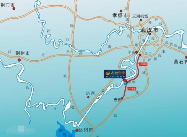 武深高速(武汉至深圳高速公路)嘉鱼段2019年初通车,可和京港澳高速