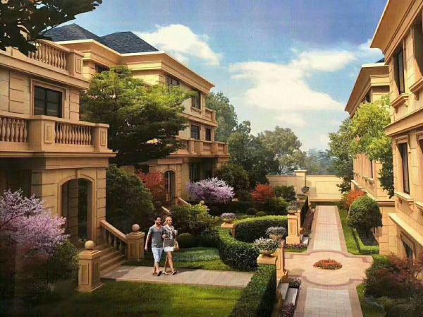 嵊州新昌绝版别墅,欧式园林风格,高档豪宅,坐北朝南,三面环山——
