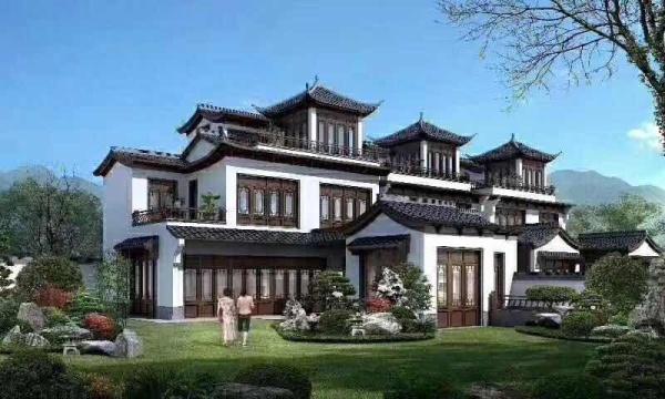 千岛湖桃源居一线湖景中式庭院豪宅别墅,70年产权,不限购