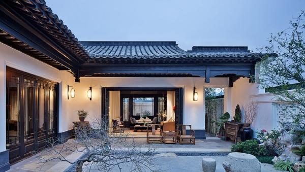 二期中式精裝江南風格小合院別墅面積100~260平,獨立院落,上下兩層精