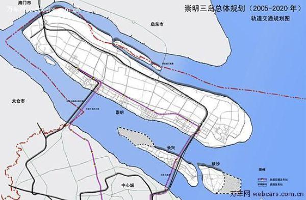 两条地铁——上海地铁1号线延伸段,崇明地铁19号线(与上海地铁9号线