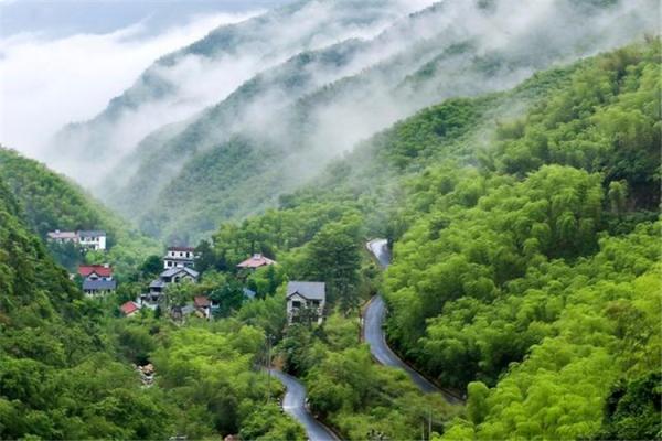 天荒坪风景名胜区,安吉竹乡国家森林公园,龙王山自然保护区,藏龙百瀑
