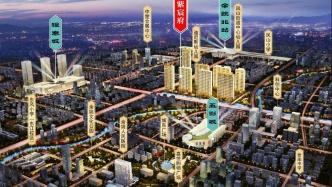余姚市中心,两大商业综合体环绕