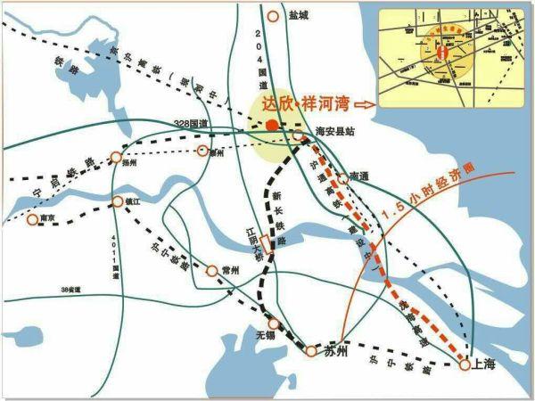 交通:沪通高铁2020年全线通车直达上海虹桥只需50分钟,距离海安高铁