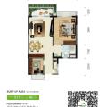 碧桂園森林城市48㎡投資1+1房(掃二維碼看實景) 兩居 48㎡㎡ 戶型圖