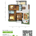 碧桂園森林城市128㎡舒居三房(掃二維碼看實景) 三居 128㎡㎡ 戶型圖