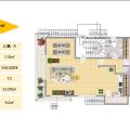 雅典學府2期 一居  戶型圖