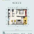 奥园泉林黄金小镇60平方一房一厅精装小户型 一居 60㎡ 户型图