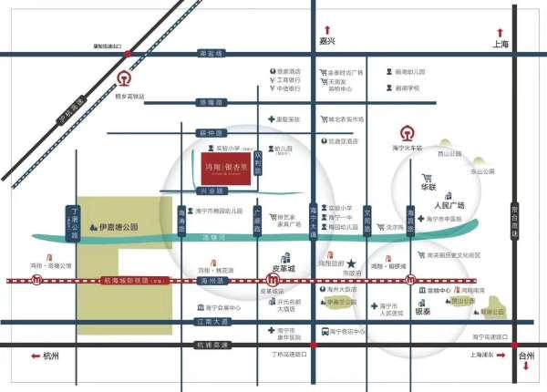 杭浦高速铁路:沪昆铁路,沪杭高铁,沪乍铁路(规划中) 地铁:杭海城际