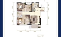 霸州溫泉新都孔雀城三室二廳二衛  105平㎡ 戶型圖