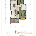 騰沖啟迪雙創冰雪小鎮舒適兩居,85平, 兩居 86㎡ 戶型圖